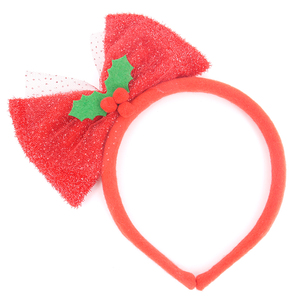30CM christmas headband with red bowknot