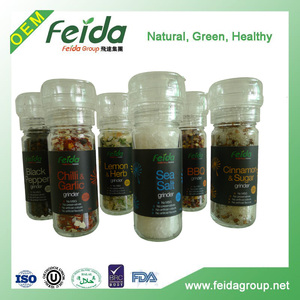 Herbs and spices herb dry commercial mini grinder in bottle or glass container