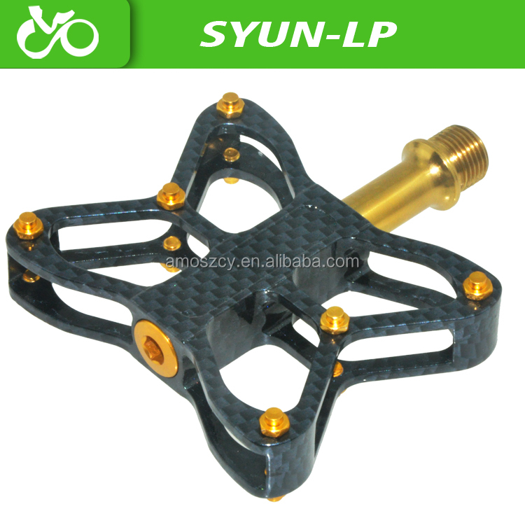 Bmx Bicycle Parts 3d Carbon Finish Titanium Bicycle Pedals Bmx Dh