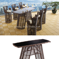 Save 20% pub garden high table with stool and cheap wicker outdoor bar furniture sets