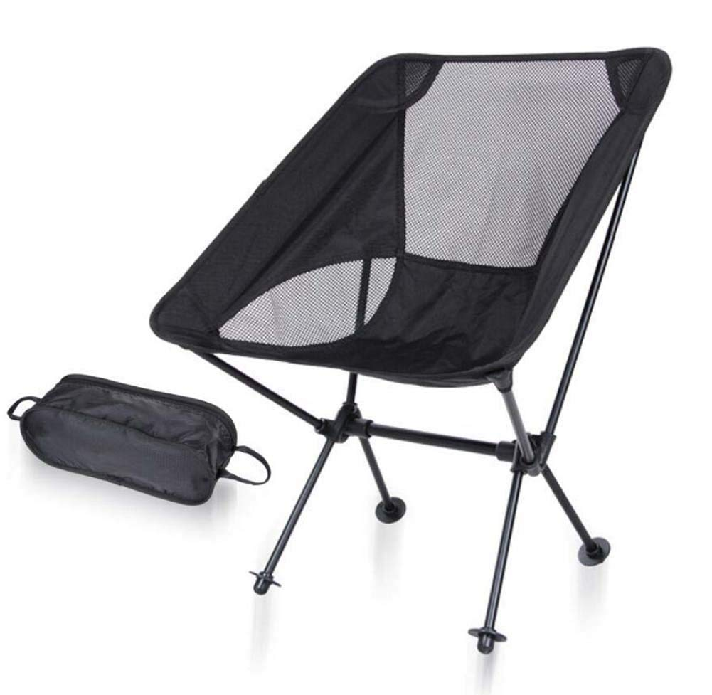 Onfly Ultra-light Moon Chair Outdoor Folding Chair Portable Director Chair Aviation Aluminum Backrest Side Pocket Fishing Stool Camping Beach Chair With Carry Bag