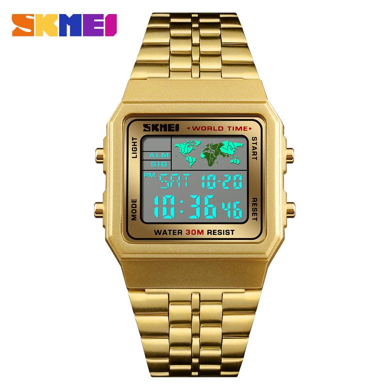 腕時計新トップ品質の高級ステンレス鋼 skmei 1338 3ATM 腕時計メンズレロジオ卸売時計
