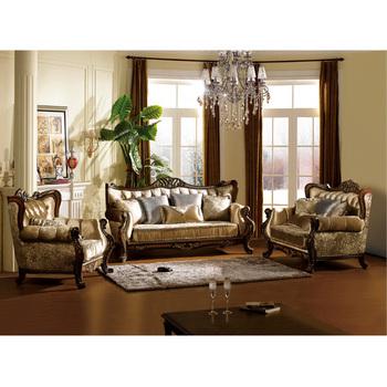 S2125 Foshan Shunde Furniture Living Room Wooden Sofa Set Designs