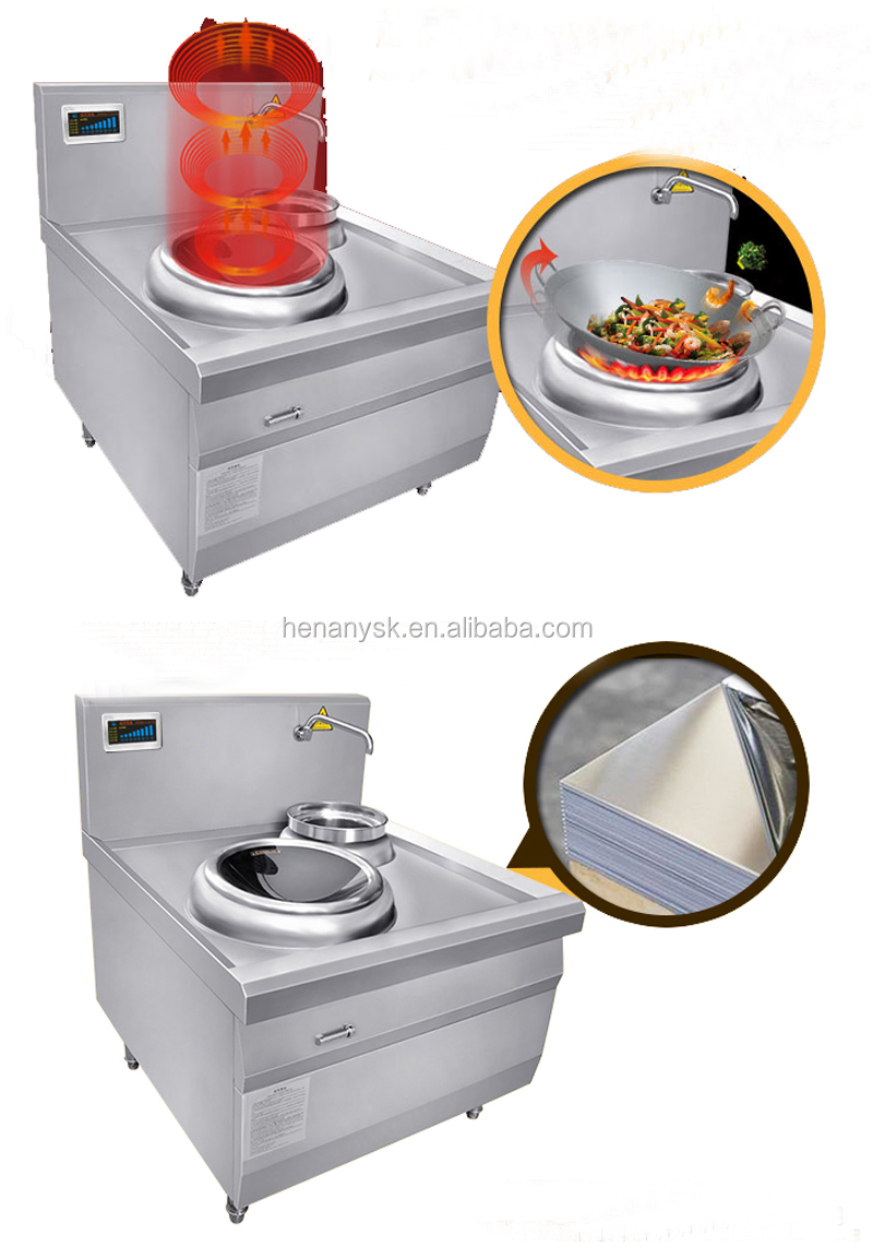 CH- 12XCW Single Inductioin Burner Commercial Wok Station National Induction Wok Cooker Best Price