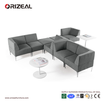 Orizeal Modern Grey Fabric Sectional Modular Sofa Oz Osf019