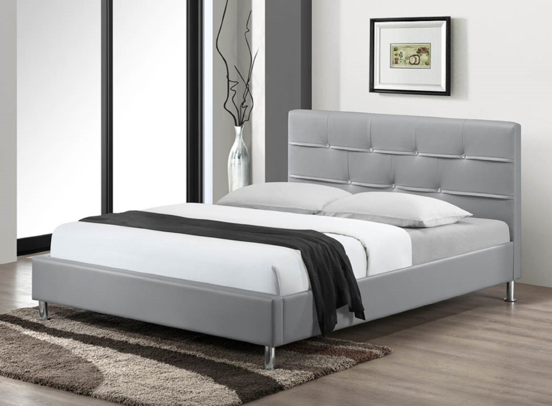 Myco Furniture Charleston Platform Bed, Queen, Grey