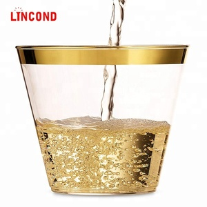 Cheap price pp material water clear disposable plastic cup wine cup