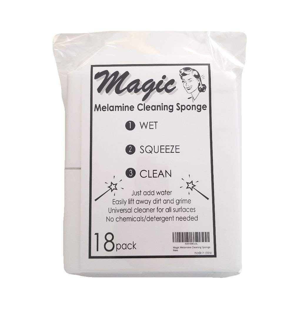Magic Melamine Cleaning Sponge | Eraser Sponge | Bulk Melamine Sponges | Multi Purpose Sponge | 18 pack