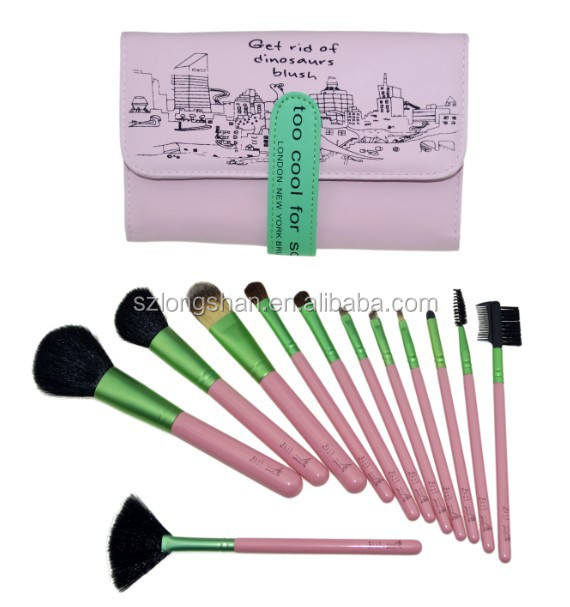 12pcs wholesale market cosmetics brushes makeup imported from china