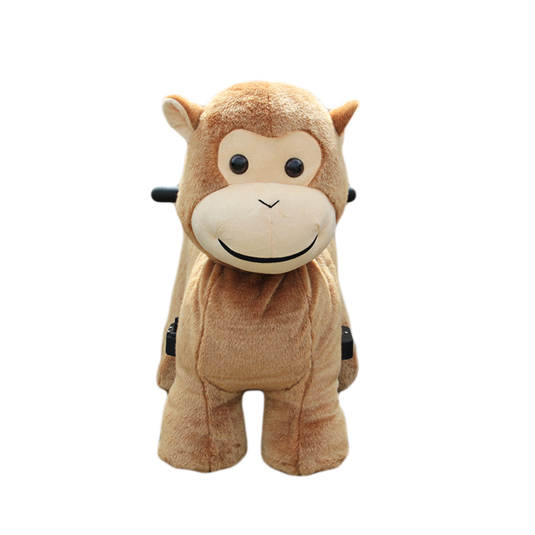 Rechargeable electric 6V plush animal kiddie animal to ride on toy for kids