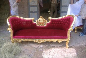 Red love baroque style gold sofa buy red love baroque - Sofas de estilo ingles ...