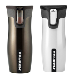 BPA Free leak spill proof thermos metal double wall stainless steel vacuum coffee travel flask