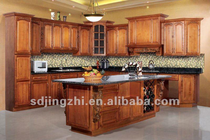 Personnalis haut de gamme de h tre bois massif hautes for Armoire de cuisine en bois massif