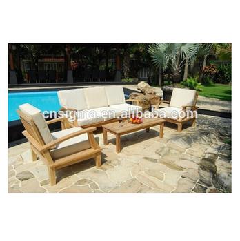 Outdoor Furniture Simple Wooden Sofa Teak Wood Sofa Set Designs