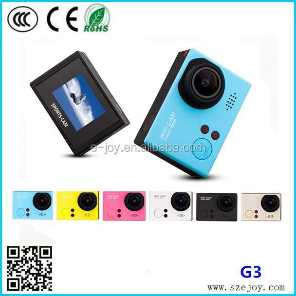 Full HD 1080p@60fps G3 sj4000 newest wifi remote control waterproof 1080p night vision action camera