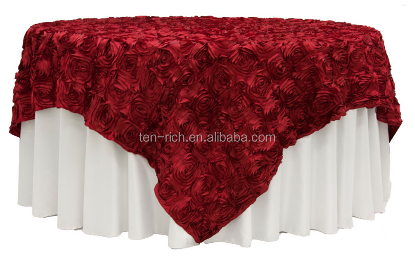 Solid Color Polyester Wedding Table Cloth Plain Woven Polyester ...