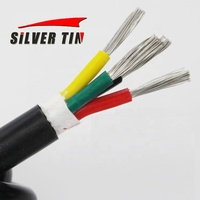 20 gague Silicon wire 4 core Electrical Wire High Temperature Silicone insulated Cable 200C