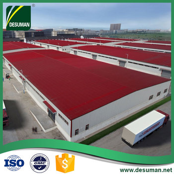 Famous two story prefabricated light steel frame construction structure factory shed buildings for warehouse round