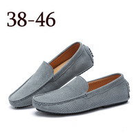 Wholesale fashion men large size flat loafer shoes casual driver shoes for men