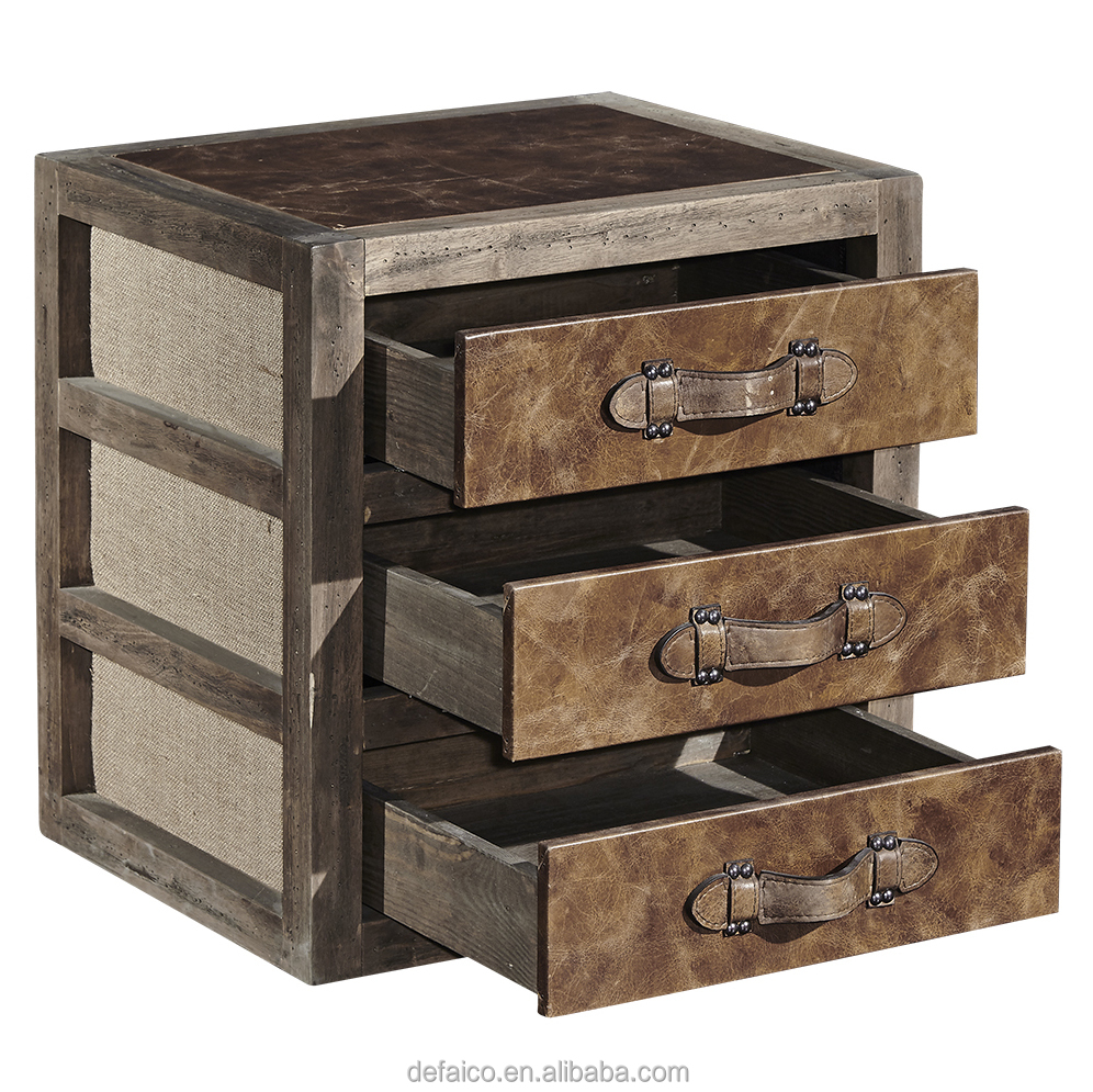 Vintage Faux Leather Square Trunk Side Tables Product On Alibaba