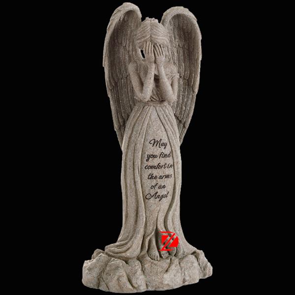 Granite Stone Weeping Angel Statue