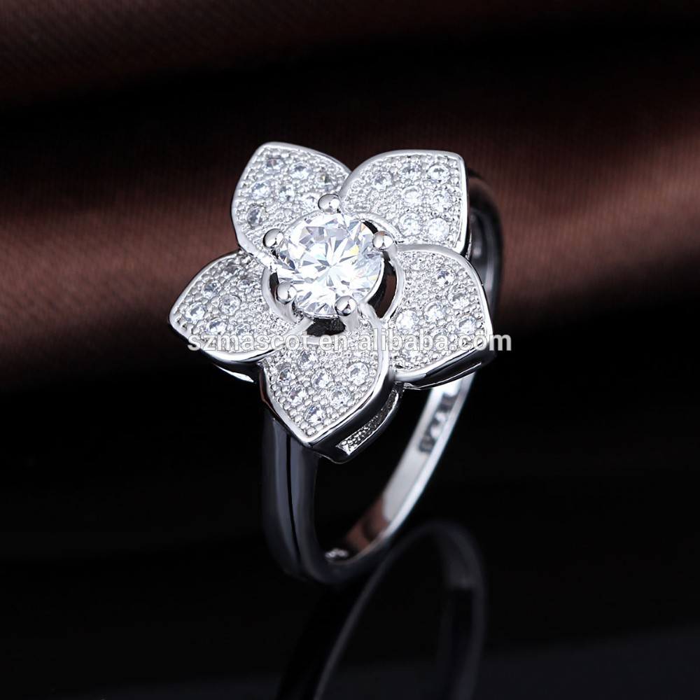 Women Diamond Ring Design / 925 Sterling Silver Ring Jewelry ...