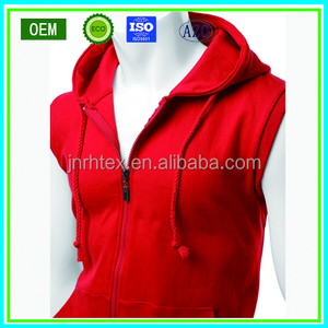 OEM custom mens sleeveless hoodie