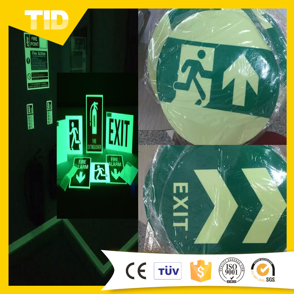 Photoluminescent Vinyl Film For Safety Sign