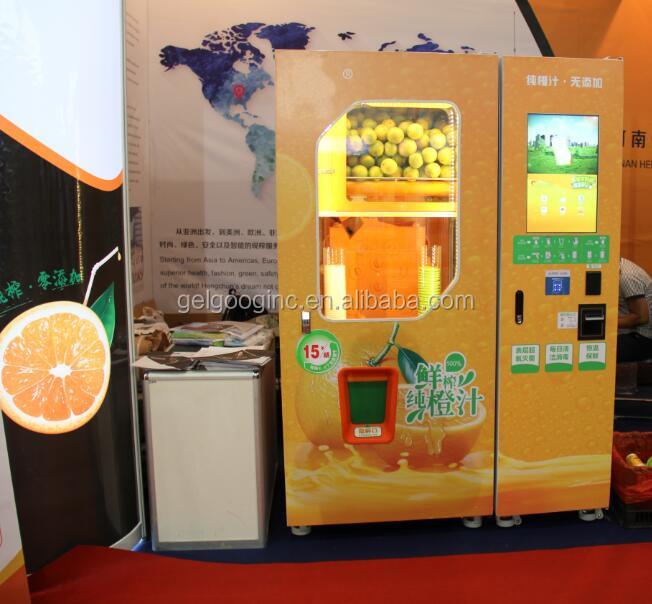 Microwave Fresh Juice Vending Machine Orange Juice Making And