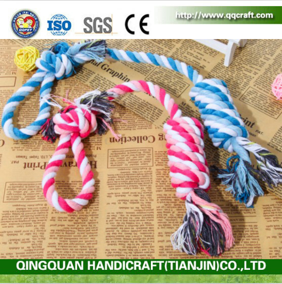 QQ Pet Factory Cotton Molar Toys Strong Puppy Dog Ball Knot Dog Bites Cotton Rope Knotted Molar Pet Beagle Toys