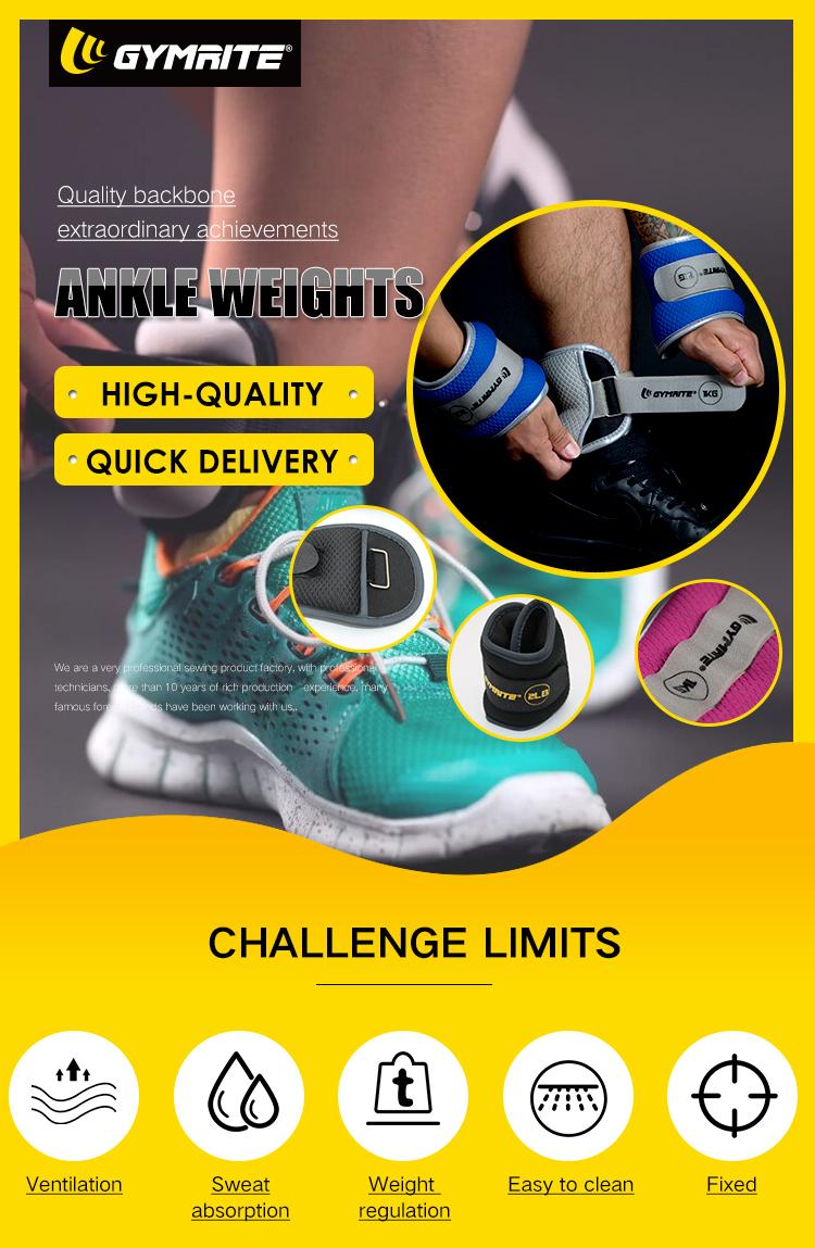 Logotipo personalizado esportes exercício treinamento neoprene tornozelo e pulso pesos cinta saco de areia para fitness
