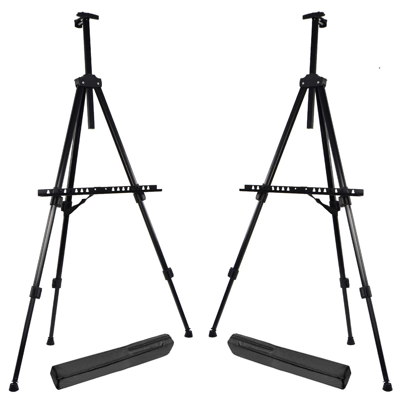 MyGift Adjustable Black Aluminum Tripod Easel//Freestanding Presentation Board /& Store Sign//Art Display Stand