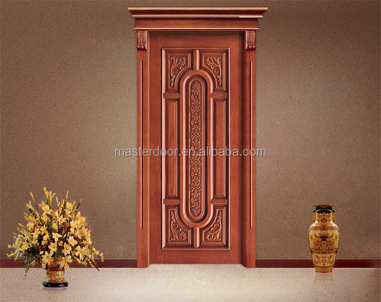 Solid teak wood door price buy solid teak wood door for Main door design indian style