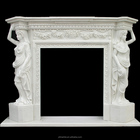 white marble all hand carved lowes fireplace mantel