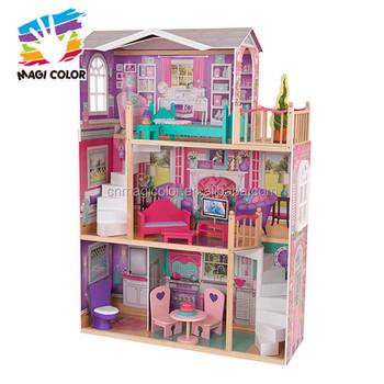 Wholesale Best Kids Wooden Elegant Doll House Set New Design Big