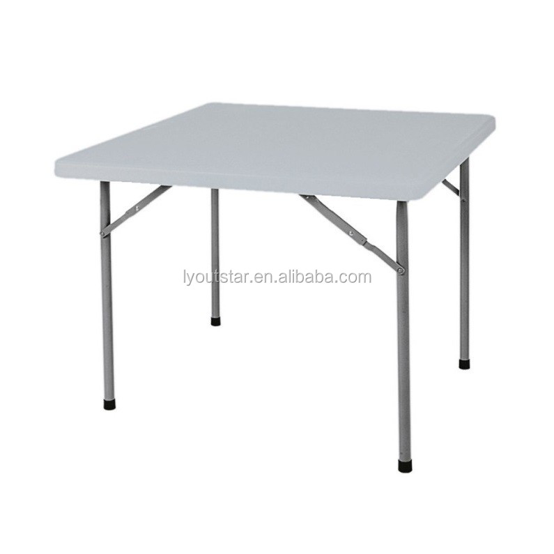 Outdoor folding structure hpde plastic dinner small round for Table html structure