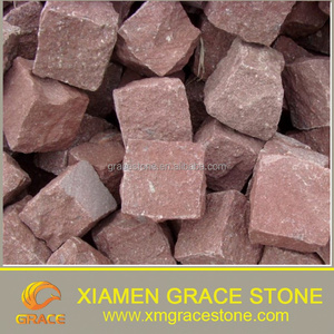 Red Porphyry Granite Cubes Paving Stone Price