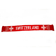 Hot sale cheap custom made acrylic knitted promotional switzerland national flag printed words soccer football fans neck scarf