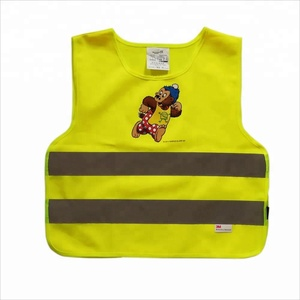 child safety vest by Reflective Yellow Knitted fabric with EN1150 standard