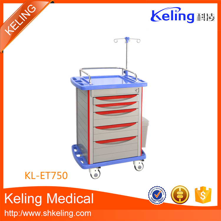 Good feature new type medical abs computer trolley cart