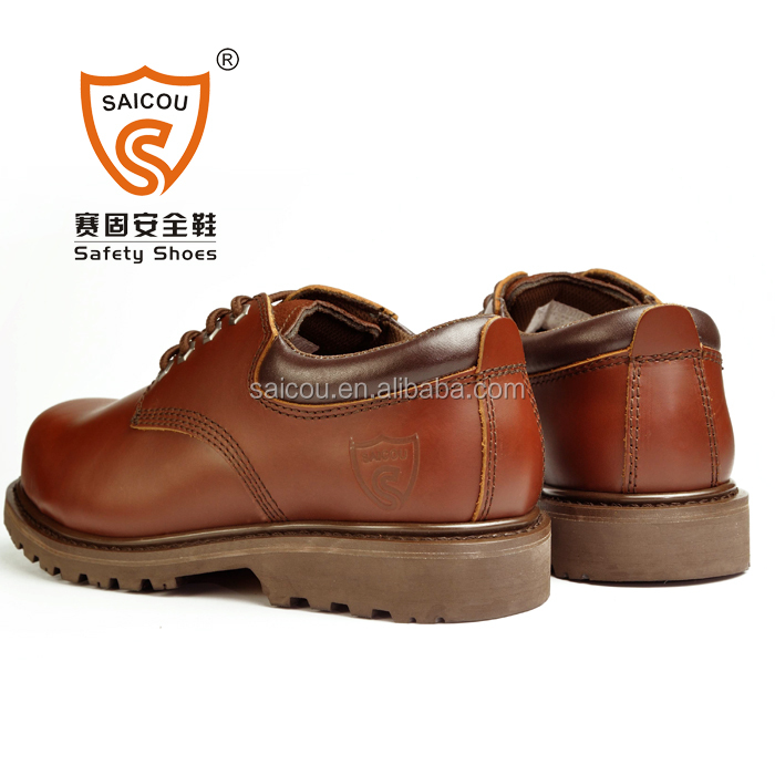 goodyear welt safety shoes and handmade camel goodyear safety footwear  factory (DC-857)