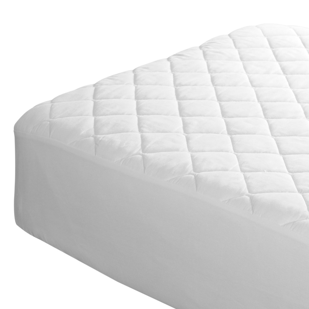 Ultrasonic wave 70GSM 100% Polyester Mattress Protector, mattress cover Wholesale Cheap Hotel Fitted Mattress Cover