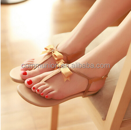 2014 Latest Flat Sandals For Women/leather Sandals/women Leather ...