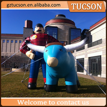 advertising inflatable bull/ inflatable cow/ inflatable animal model for sale