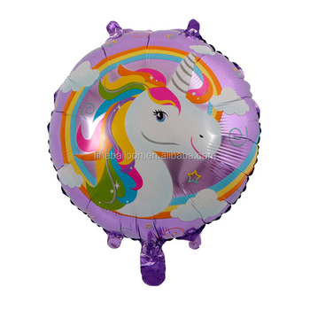Party City 18 Inch Round Helium Magical Unicorn Balloons For Decoration