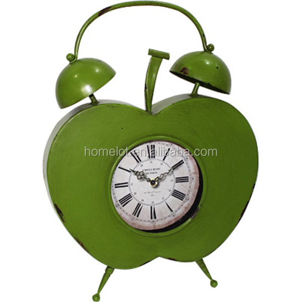 New Home Goods Antique Promotional Metal Table Clocks for Sale