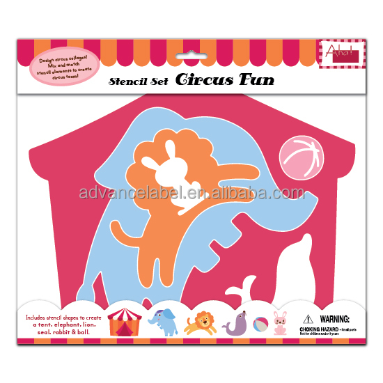 Paper Stencil Set Drawing Painting Decorating Decoration Stationery DIY OEM ODM Circus Fun theme
