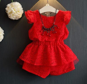 zm30131c korea new product lace girl romper 2018