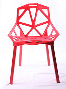 Factory price fashion hollow coffee chair, creative design geometrical PP meeting room chair