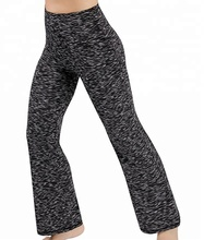 Power Flex Boot Cut Yoga Hosen Bauch-steuer Training Läuft 4 Way Stretch Boot <span class=keywords><strong>Bein</strong></span> Yoga Hosen